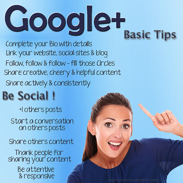 Basic Tips for Google+ Plus