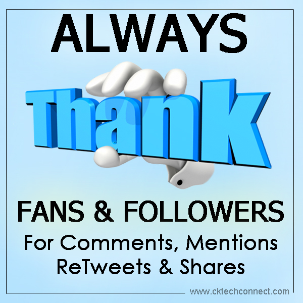 Always Thanks Fans & Followers