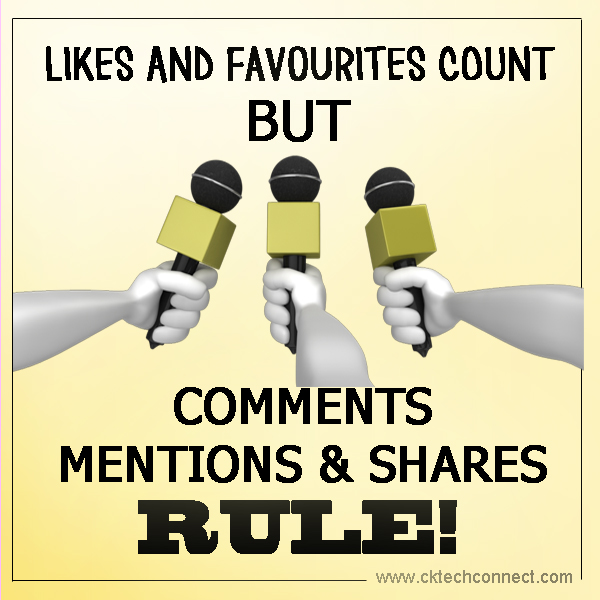 Comments, Mentions and Shares Rule