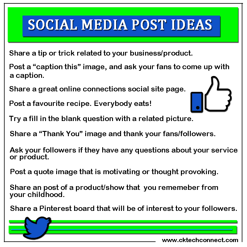 Social Media Content Post Ideas