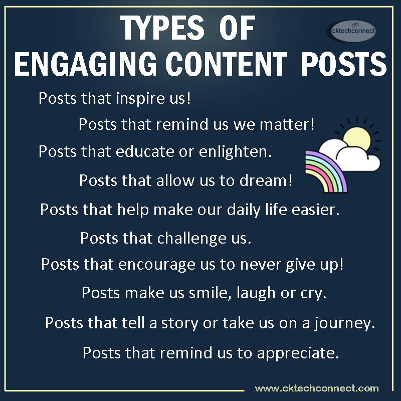 TYpes of Engaging Content Posts