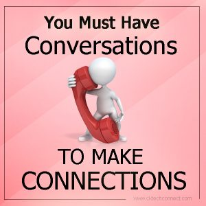 Social marketing Engagement requires conversations to make connections